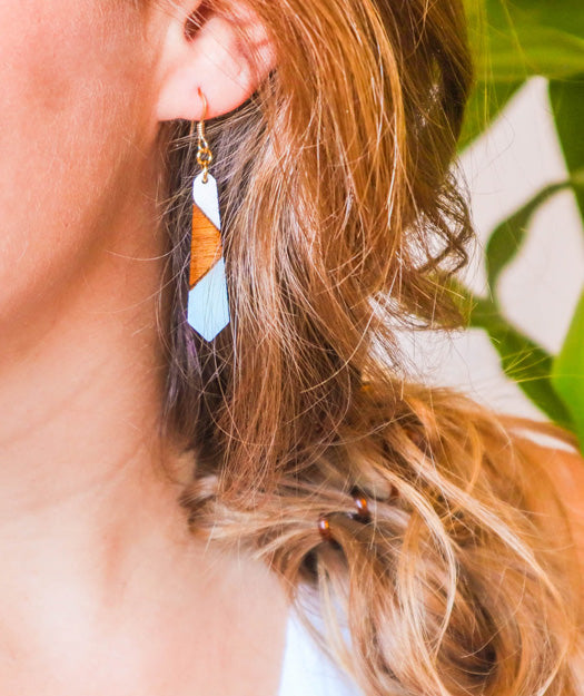 Wooden Earrings | Bar