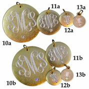 monogram necklace samples