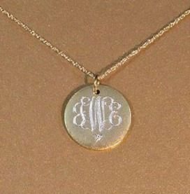 Monogram Necklace with Diamond