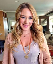 Haylie Duff Monogram Necklace