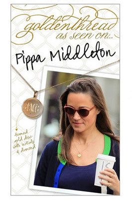 Pippa Middleton wearing Monogram Necklace by Golden Thread