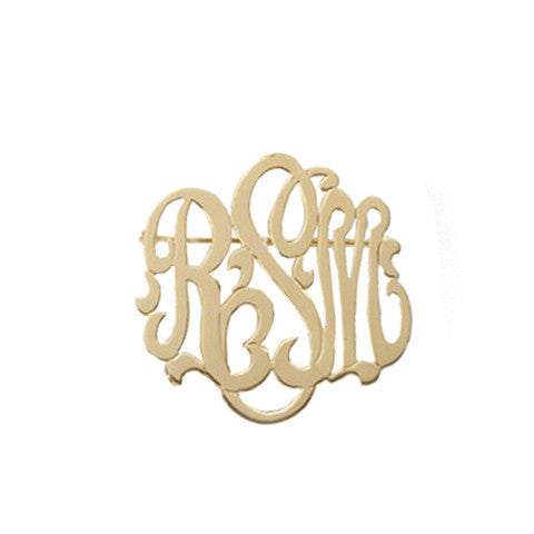 Moon and Lola Monogram Brooch Apparel & Accessories > Jewelry > Brooches & Lapels