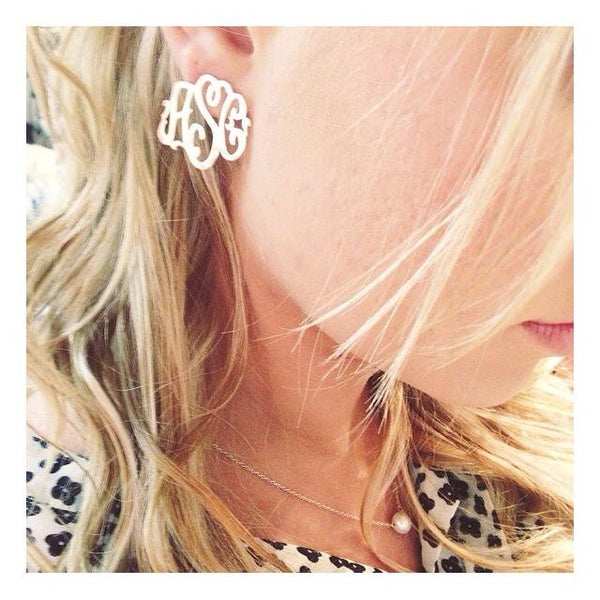 Moon and Lola Monogram Post Earrings Apparel & Accessories > Jewelry > Earrings - 3