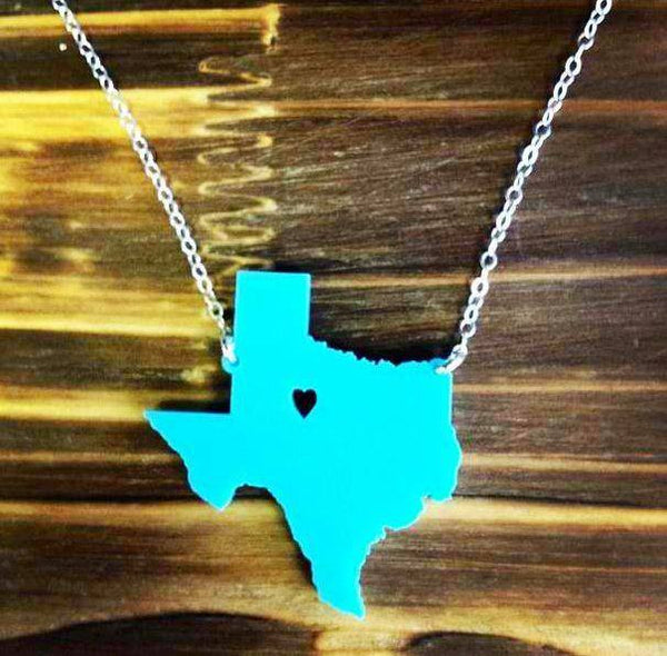 Acrylic State Necklace by Moon and Lola Apparel & Accessories > Jewelry > Necklaces - 3