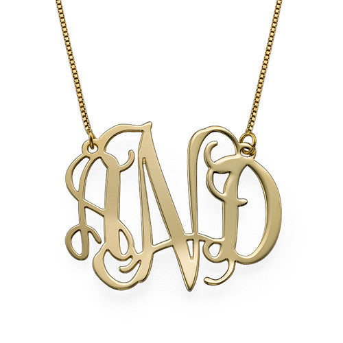 10K Gold Monogram Necklace Apparel & Accessories > Jewelry > Necklaces - 1