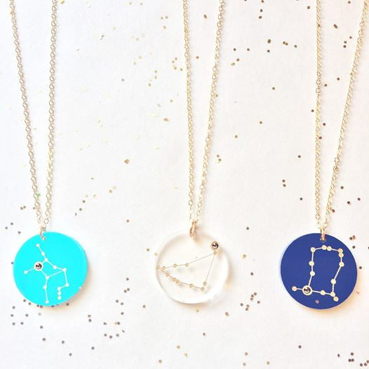 Acrylic Zodiac Constellation Necklace by Moon and Lola Apparel & Accessories > Jewelry > Necklaces - 2