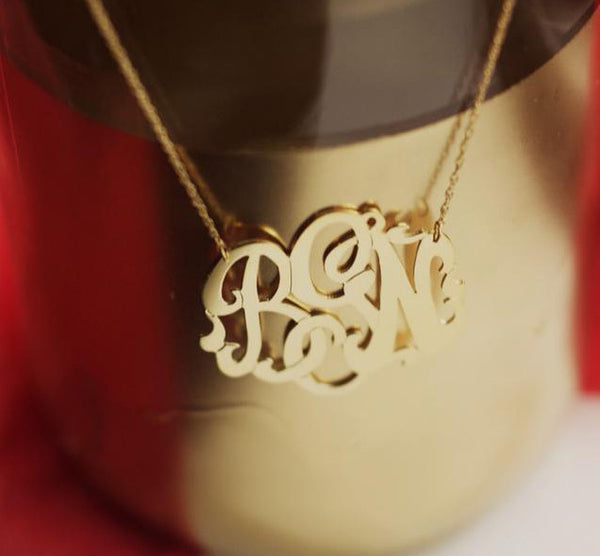 Moon and Lola Gold Filled Cutout Monogram Necklace Apparel & Accessories > Jewelry > Necklaces - 9