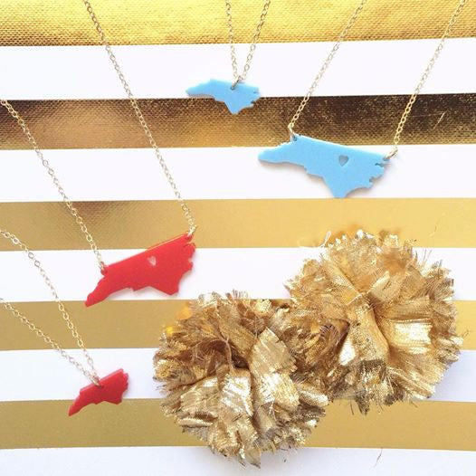 Acrylic State Necklace by Moon and Lola Apparel & Accessories > Jewelry > Necklaces - 8