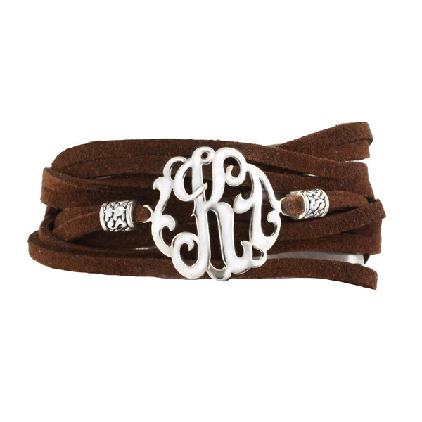 Leather Wrap Initial Bracelet-Lots of Colors-Shame on Jane Apparel & Accessories > Jewelry > Bracelets - 8