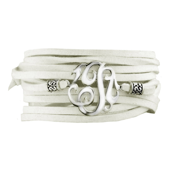 Leather Wrap Initial Bracelet-Lots of Colors-Shame on Jane Apparel & Accessories > Jewelry > Bracelets - 6