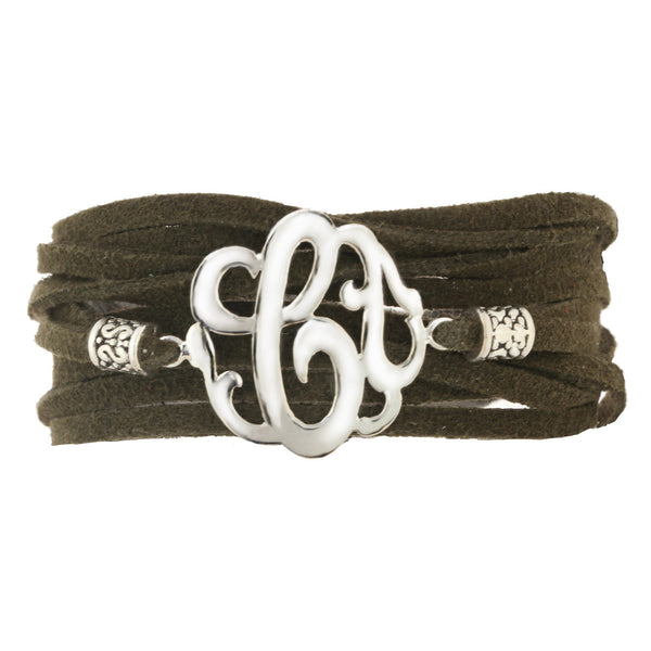 Leather Wrap Initial Bracelet-Lots of Colors-Shame on Jane Apparel & Accessories > Jewelry > Bracelets - 7