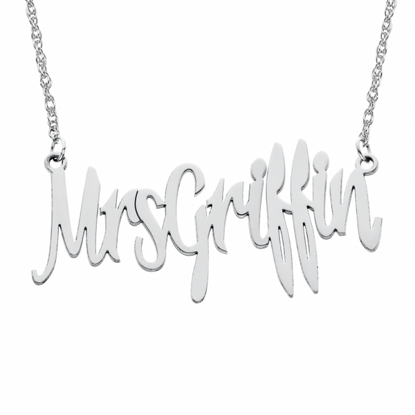 Personalized Mrs Necklace Apparel & Accessories > Jewelry > Necklaces - 2