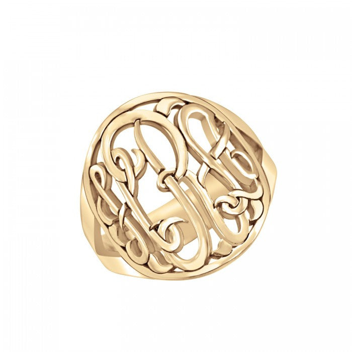 Classic Halo Monogram Ring Apparel & Accessories > Jewelry > Rings