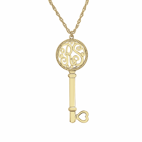 Two Initial Monogram Key Necklace Apparel & Accessories > Jewelry > Necklaces - 2