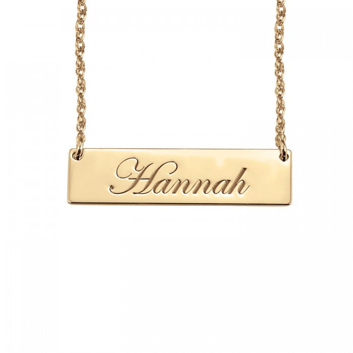 Cursive Name Bar Necklace - Alison and Ivy Apparel & Accessories > Jewelry > Necklaces