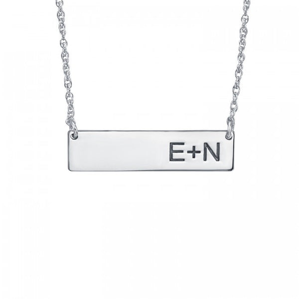 Initials Bar Necklace - Alison and Ivy 2