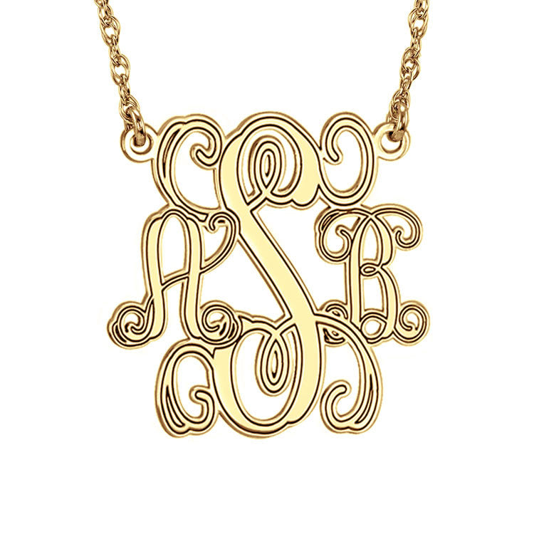 Interlocking Script Monogram Necklace-Alison and Ivy Apparel & Accessories > Jewelry > Necklaces - 1