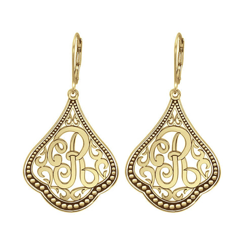 Classic Script Initial Earrings Apparel & Accessories > Jewelry > Earrings - 1