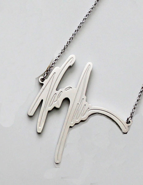 Your Signature Name Necklace by Purple Mermaid Designs Apparel & Accessories > Jewelry > Necklaces - 2