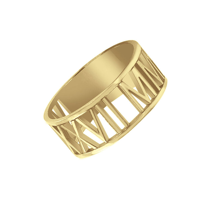 Roman Numeral Ring Apparel & Accessories > Jewelry > Rings - 1
