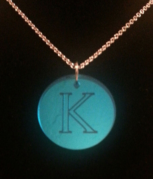 Acrylic Engraved Disc Necklace by Purple Mermaid Designs Apparel & Accessories > Jewelry > Necklaces - 5
