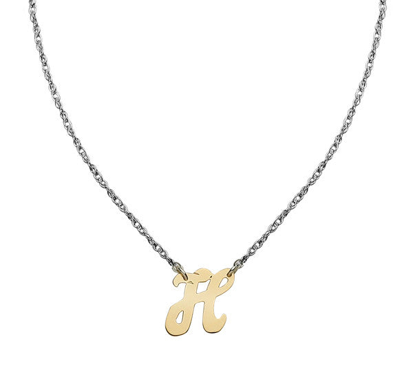 Jane Basch Petite Personals Mixed Metal Initial Necklace Apparel & Accessories > Jewelry > Necklaces - 2