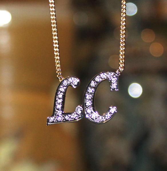 CZ Initial Necklace - Kourtney Kardashian