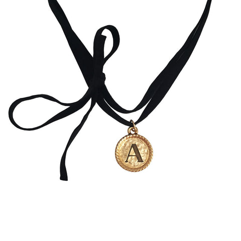 Initial Coventry Necklace - Suede Strap
