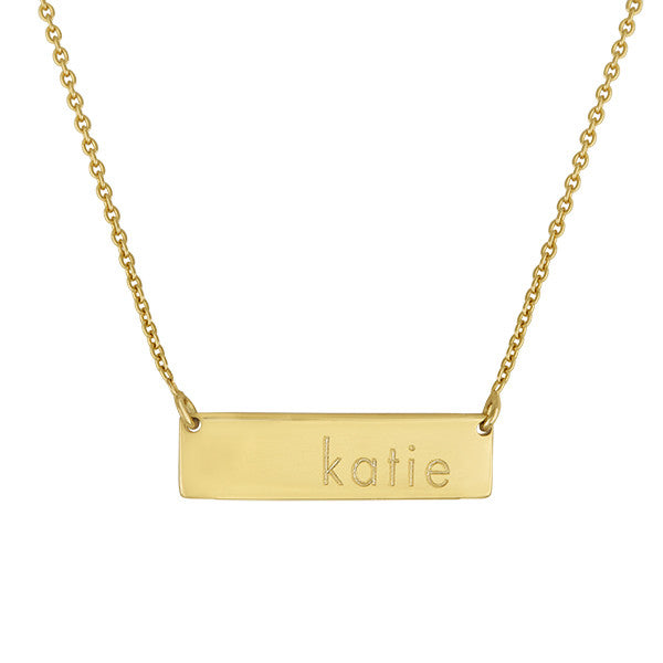 Engraved Bar Lowercase Name Necklace Apparel & Accessories > Jewelry > Necklaces - 1