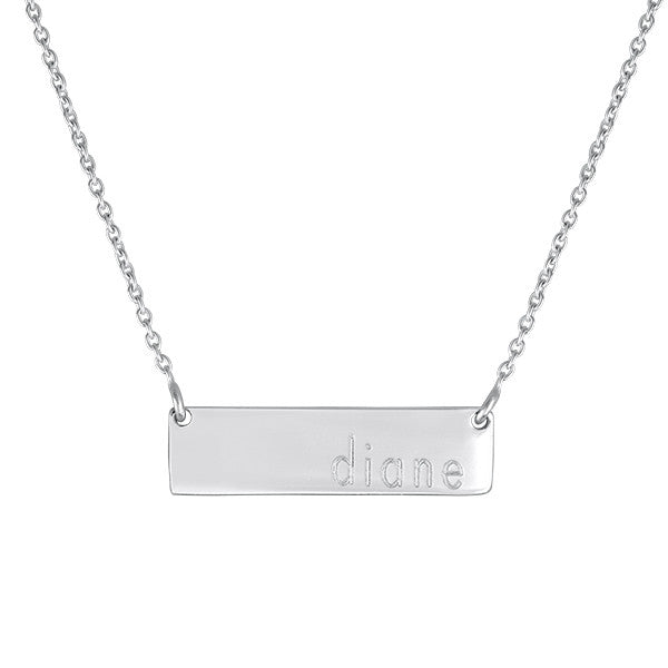 Engraved Bar Lowercase Name Necklace Apparel & Accessories > Jewelry > Necklaces - 2