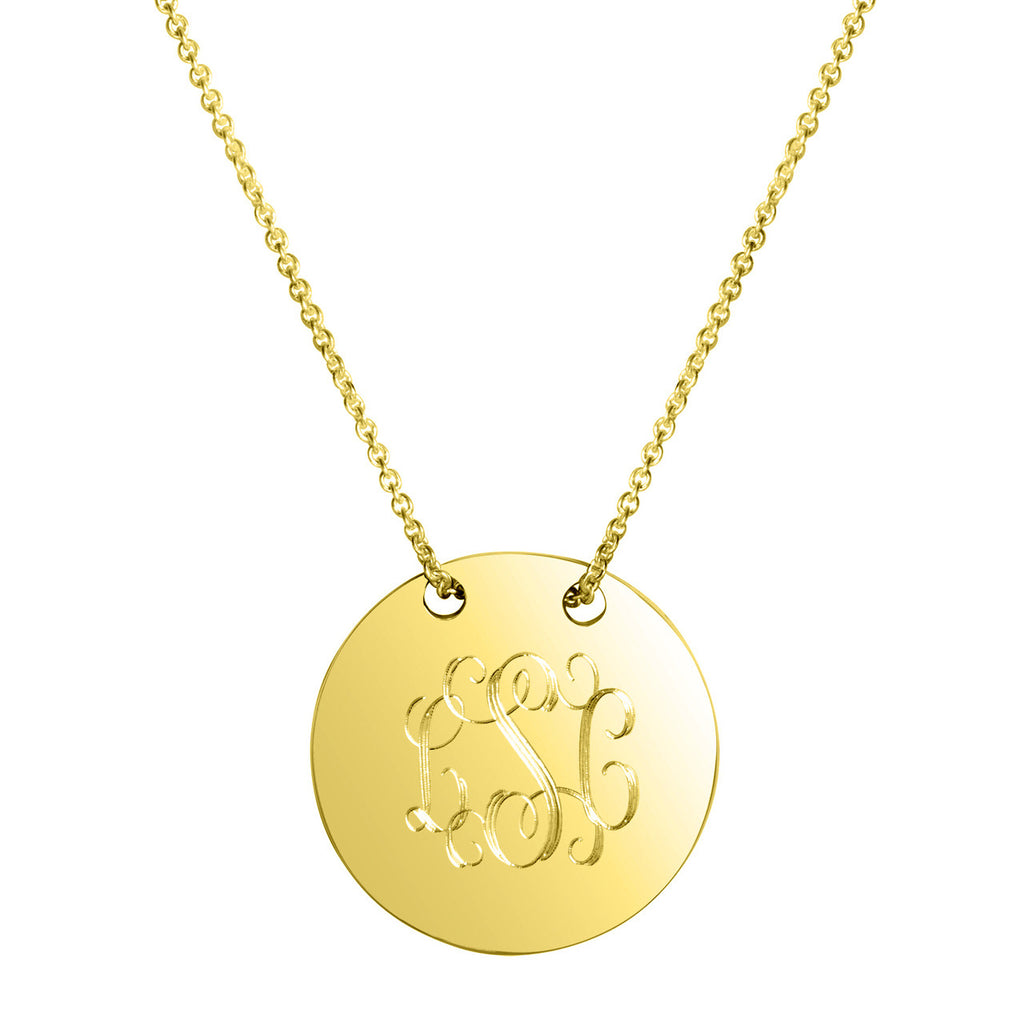 Sycamore Engraved Disc Necklace Apparel & Accessories > Jewelry > Necklaces