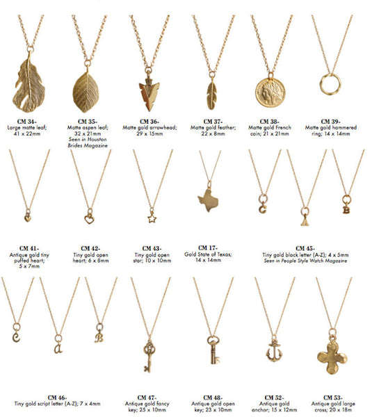 Golden Thread 14K Gold Filled Charms~Add one to any necklace Apparel & Accessories > Jewelry > Necklaces - 1