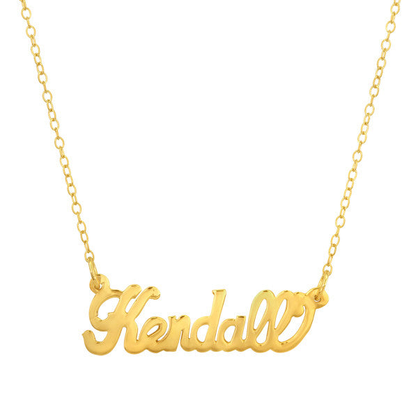 Gold Vermeil Nameplate Necklace Apparel & Accessories > Jewelry > Necklaces