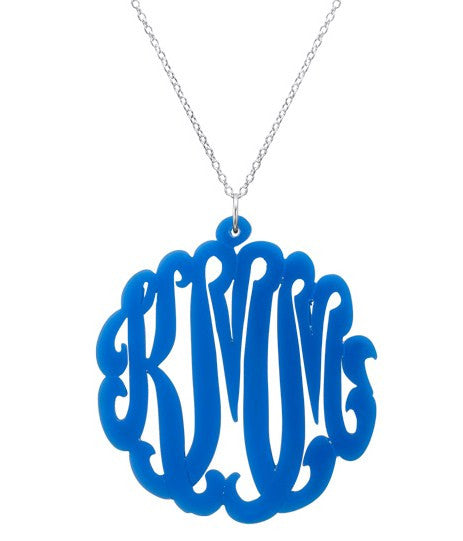 Script Acrylic Monogram Necklace Apparel & Accessories > Jewelry > Necklaces - 2