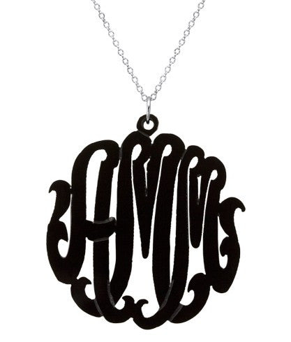Script Acrylic Monogram Necklace Apparel & Accessories > Jewelry > Necklaces - 1