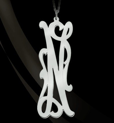 Jane Basch Long Initial Necklace Apparel & Accessories > Jewelry > Necklaces