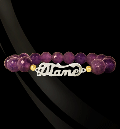 Jane Basch Nameplate Gemstone Bracelet Apparel & Accessories > Jewelry > Bracelets