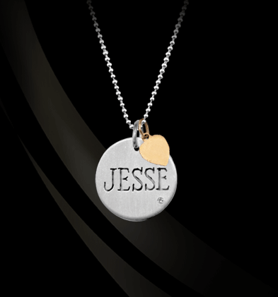 Jane Basch Designs Sterling Silver Disc Charm with Diamond Necklace Apparel & Accessories > Jewelry > Necklaces - 1
