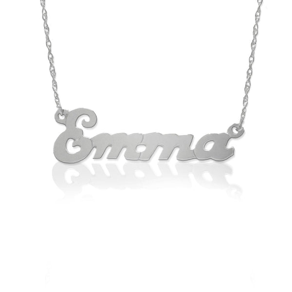 Jane Basch Small Script Nameplate Necklace Apparel & Accessories > Jewelry > Necklaces - 8