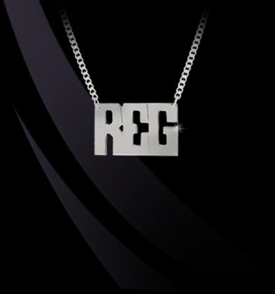 Horizontal Block Monogram Necklace by Jane Basch Apparel & Accessories > Jewelry > Necklaces