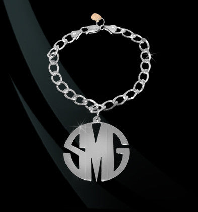 Block Monogram Charm Bracelet by Jane Basch Apparel & Accessories > Jewelry > Bracelets