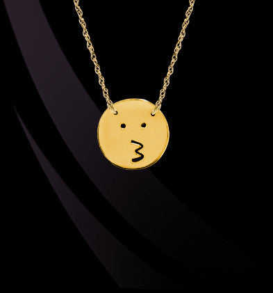 Kiss Emoji by Jane Basch Designs Apparel & Accessories > Jewelry > Necklaces - 1