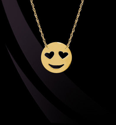 Love Emoji Necklace by Jane Basch Designs Apparel & Accessories > Jewelry > Necklaces - 1