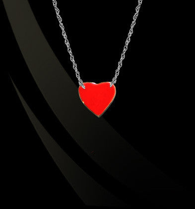 Enamel Heart Emoji Necklace by Jane Basch Designs Apparel & Accessories > Jewelry > Necklaces