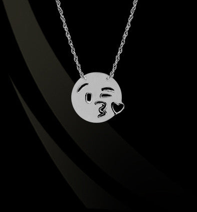 Kiss Love Emoji Necklace by Jane Basch Designs Apparel & Accessories > Jewelry > Necklaces - 1