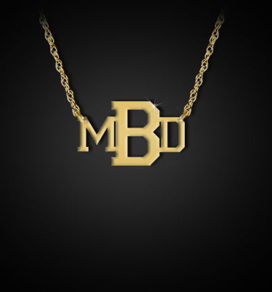 Jane Basch Varsity Monogram Necklace Apparel & Accessories > Jewelry > Necklaces - 1
