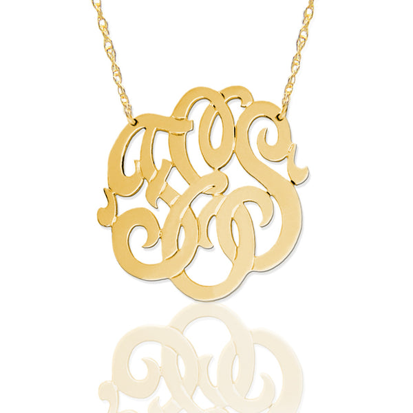 Gold Freeform Monogram Necklace by Jane Basch Apparel & Accessories > Jewelry > Necklaces - 1