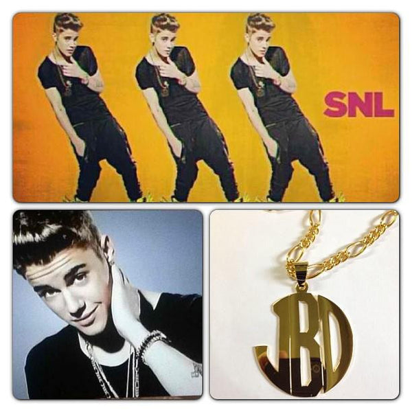 Jane Basch Mens Big Block Monogram-Pendant Only Apparel & Accessories > Jewelry > Necklaces - 2
