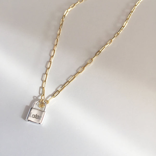 Engraved Gothic Lock Necklace by Miriam Merenfeld 3