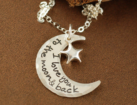 I Love You To The Moon and Back Necklace Apparel & Accessories > Jewelry > Necklaces - 2